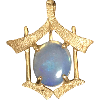 14k Gold and Opal Pendant