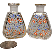 Pair of Miniature glass perfume bottles for doll's accessories