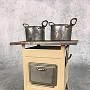 Antique Marklin dollhouse tin stove