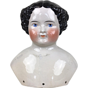 Antique Alt Beck large china doll head, repaired, needing rescue