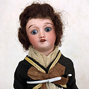 Antique miniature French dollhouse doll with enormous personality
