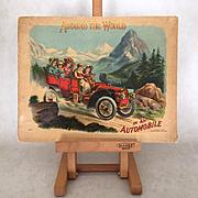 "1907 Children's Book ""Around the World in an Automobile"""
