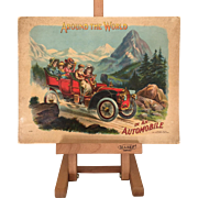 "Antique 1907 Children's Book ""Around the World in an Automobile"""