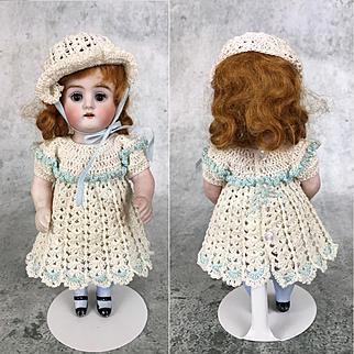 Antique all-bisque Kestner Model 130 in delightful crocheted dress