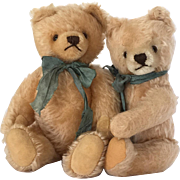 Vintage pair of mohair teddy bears
