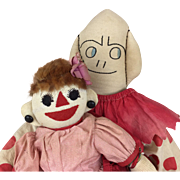 Handmade cloth folk art dolls