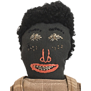 Handmade Black Folk art Cloth doll