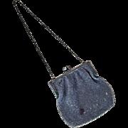 Antique miniature beaded doll purse