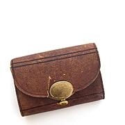 Vintage miniature leather doll purse