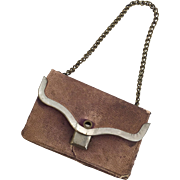 Leather miniature doll purse
