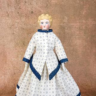 Antique blonde parian doll