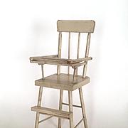 Vintage doll size high chair, doll chair, doll high chair, shabby chic