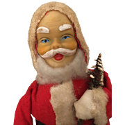 Vintage windup Santa, works great and will make you smile
