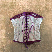 Artist made silk corset for French Doll