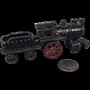 Miniature cast iron train engine