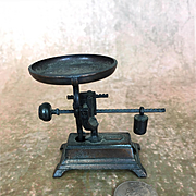 Old dollhouse copper grocery scale