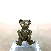 Vintage micro mini cast metal dollhouse teddy bear