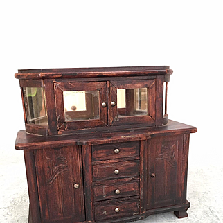 Antique dollhouse sideboard