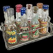 Antique or vintage miniature doll size German liqueur bottles, RARE