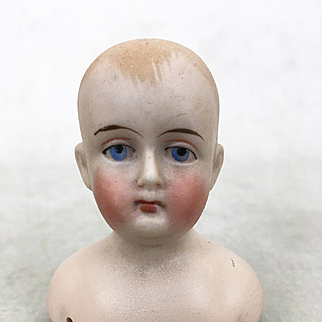 Antique Bisque boy's head looking for body