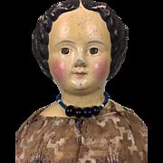 Papier mache M&S Superior doll in wonderful clothing