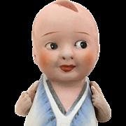 Baby Bud all bisque doll, boy doll, side-glancing Googly doll