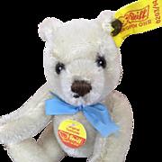 Miniature Steiff mohair teddy bear, mint