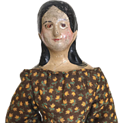 Antique papier mache doll, milliner's model, mid 1800's