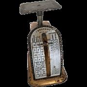 Vintage Miniature Postal Scale, doll size postal scale, miniature scale, dollhouse miniature