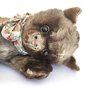 Very Old Mohair Cat for doll's companion
