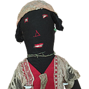 Handmade Folk Art Black Doll