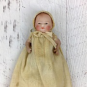 Vintage all bisque Bye Lo, miniature doll, baby doll, tiny doll