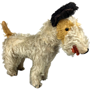 Vintage mohair wire Fox terrier
