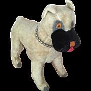 Vintage mohair boxer, vintage toy, vintage dog toy, Knickerbocker dog