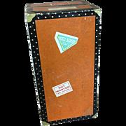 Vintage miniature trunk, doll sized traveller's case