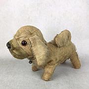 Vintage mohair dog, vintage toy, vintage dog toy, well-loved dog