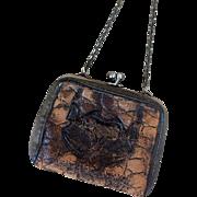 Miniature leather doll purse