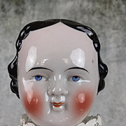 Early Kestner China head doll with modified Flattop hairstyle