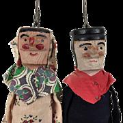 Vintage wooden dolls