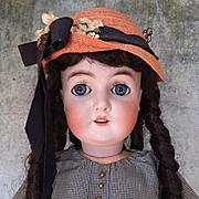 Antique Armand Marseille Queen Louise, bisque head doll