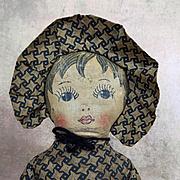 Vintage handmade Nelly Kelly cloth doll