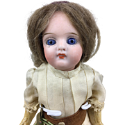Antique German bisque head doll, miniature doll, girl doll, original clothing, gorgeous