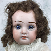 Antique German bisque head doll, original clothing, mystery doll