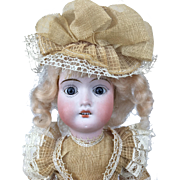 Bisque head German girl doll, mint in original box