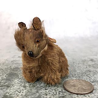 Vintage Dollhouse Dog or bear, miniature dollhouse animal, vintage miniature stuffed animal