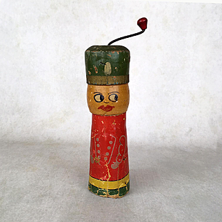 Antique toy noisemaker, vintage doll toy