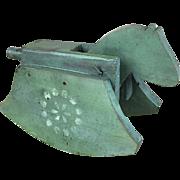 Vintage Primitive Wooden Rocking Horse Toy
