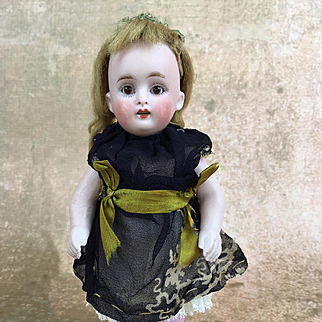 Kestner 150, antique all bisque girl doll, 7 inches of sweetness