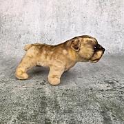 Vintage mohair bulldog, perfect stance, adorable