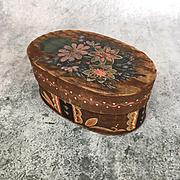 Antique or vintage folk art painted wooden box